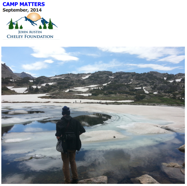 Read the Latest 'Camp Matters' Newsletter