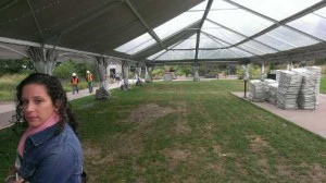 large tent from entry way looking N-00