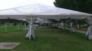 large tent looking south